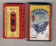 GIOCA E SUONA CON CRISTINA D'AVENA Musicassetta 21 OTTIMO Mc Audiocassetta