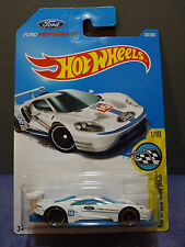 2017 Hot Wheels New WHITE - 2016 FORD GT RACE - HW SPEED GRAPHICS 1/10. L Case