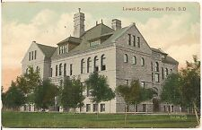 Lowell School in Sioux Falls SD Postcard 1908