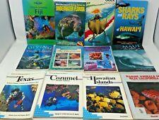 12 Book Lot: SCUBA DIVING TOURISM GUIDES Dive Handbooks Vacations