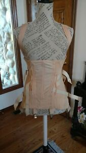 CAMP vanity fair girdle corset boned fan lacing high back brace  excellent