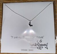 Disney Parks Collection STERLING necklace Mickey Mouse Ears Hat - NEW