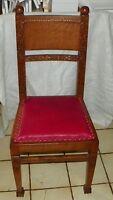Solid Quartersawn Oak Carved Desk Chair Sidechair  (SC103)