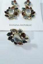 Banana Republic Large Crystal Mutli Color Drop Earring RING Sz 5 NWT 89.50 Set 2