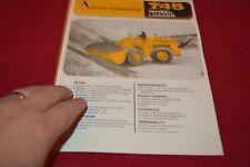 Allis Chalmers 745 Tractor Loader Dealer's Brochure YABE14 ver25