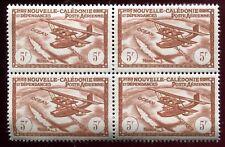 timbres Colonies poste aérienne. 5 fr . Nouvelle Calédonie . bloc de 4 timbres