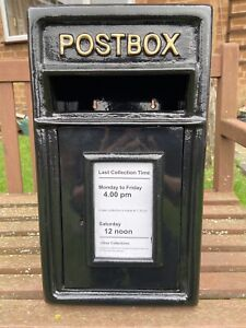 Postbox Letter Post Box - Cast Iron Black - Small - Rear/Wall Mount