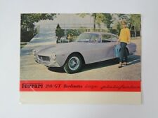 Original Ferrari 250 Granturismo Lusso Italian Sales Brochure Manual Handbook