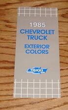 1985 Chevrolet Truck Exterior Colors Sales Brochure 85 Chevy Pickup El Camino