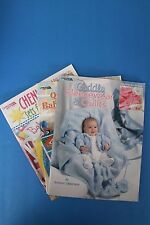 "Set of 3 craft books: ""Chenille Sets for Baby"";""Quilts for Babies and Kids"""