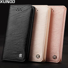 XUNDD Leather Wallet Case Card Holder Flip Cover F Apple iPhone 8 7 7s Plus 6 6s for iPhone 7s Black