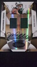 2009 Certified Mark Sanchez Rc Auto Dual Game Used Jersey Jets Autograph #49/249