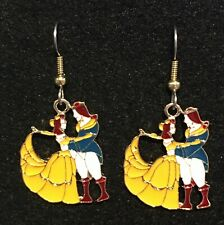 Belle Earrings Beauty and the Beast Stainless Hook New Princess Disney (B)