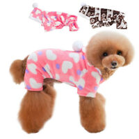 Pajamas for Dogs Soft Warm Fleece Pet Puppy Clothes Jumpsuit Hoodie S-XL