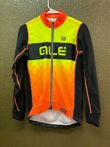 Alé Cycling R-EV1 Rumbles Long Sleeve Jersey - Fluo Yellow/Orange - Men's Large