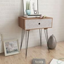 Industrial Bedside Table Vintage Retro Furniture Small Side Cabinet Storage Unit