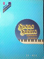 SUONO SUBITO di Franco Bignotto Volume 8 lezioni 29-30-31-32 Ricordi 1983