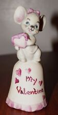 Valentine Miniature Porcelain Mouse bell Signed by the artist
