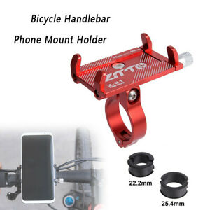 Aluminum Motorcycle Bike Bicycle Holder Mount Handlebar For Cell Phone