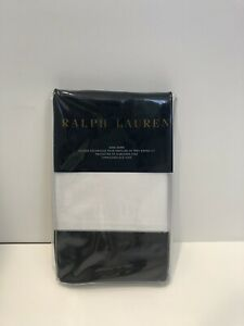 Ralph Lauren Langdon Border Black Sateen King Shams-a pair (two)
