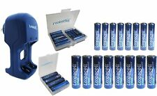 16 Pack High Capacity Rechargeable Batteries with Cases and Charger 8 AA 8AAA