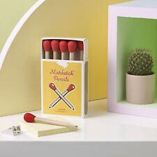 Matchstick Matite Set di 8 Grafite Stile Vintage Regalo Confezione con estremità in gomma