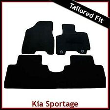 Kia Sportage Mk2 2004-2008 2-eyelets Tailored Fitted Carpet Car Floor Mats BLACK