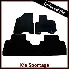 Kia Sportage Mk2 2004-2008 2-eyelets Tailored Fitted Carpet Car Floor Mats BLACK