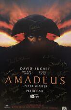 David Suchet Michael Sheen ++ Signed AMADEUS Broadway Poster Windowcard