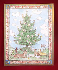 Caspan Christmas Tree and Animals 20 Christmas Cards with Envelopes Nos