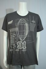 Ladies XL Bell Helicopter Football Diagram Gray SS T-shirt