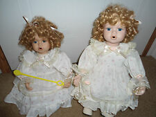 Twin Porcelain Bubble Dolls