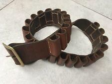 "Hand Sewn Leather Shotgun Cartridge Belt (12-Gauge, 32""-39"")"
