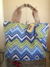 NWT FRANCO SARTO Flipping Out Reversible Tote Bag - Blue Ziggy FREE SHIP