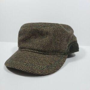 Daniel Cremieux Hat Cabbie Newsboy Cap Gray Driver Mens M/L Wool Blend Brown