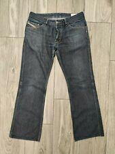 Diesel RUKY Mens W34 L32 Denim Blue Jeans Bootcut 0088Z Button Excellent