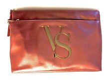 Victoria's Secret Makeup Bag Fashion, Peach & Gold, NWT