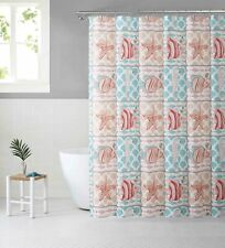 Cora Blue Red Seaside Peva Shower Curtain Liner Odorless Pvc Chlorine Mold Free