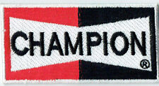Hot Rod patch Champion Spark Plugs Badge Drag Race Muscle Car Speed Shop Iron On