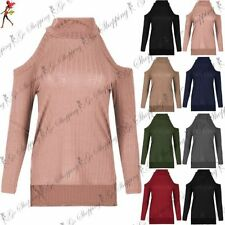 Polyester High Neck Long Sleeve Tops & Shirts for Women