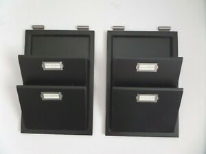 Set of 2 (Pair) OE Pottery Barn Bedford 2 Tier Wall Organizers & Mail Sorters