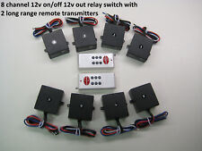 MSD 12v 8 channels on off relay remote control switch wireless key fob rm104-8