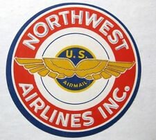 Vintage Northwest Airlines Baggage Luggage Label