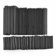 127Pcs Black Glue Weatherproof Heat Shrink Sleeving Tubing Tube Assortment Ki FP