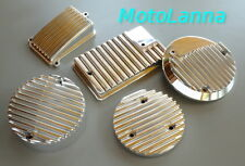 Set Five Engine Covers Fin Billet CNC Alloy SOHC Honda CB750 CB-750 Cafe Racer