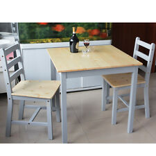 Dining Wood Table and 2/4Chairs Bistro Set Kitchen Natrual&White Colors Kitchen