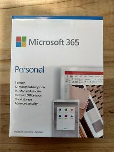 Microsoft Office 365 Personal Subscription - 1 Year - 1TB Onedrive Cloud Storage