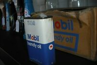 Mobil  Handy  Oil Oiler Tin Can NOS