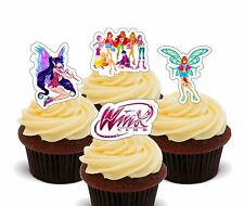 Winx Fairy Club College, Edible Cupcake Toppers, Stand-up Cake Decorations Girl