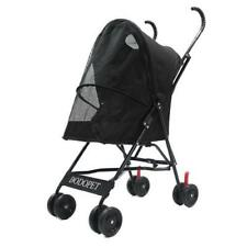 Small Dog/Cat Pet Lightweight 4-Wheel Stroller Black, up to 22Lbs
